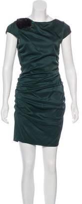 Ali Ro Feather Sleeveless Mini Dress