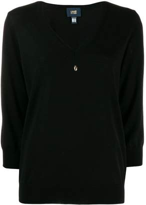 Class Roberto Cavalli embellished V-neck pullover