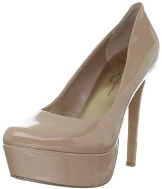 4d92f78606e Jessica Simpson Patent Nude Heel - ShopStyle