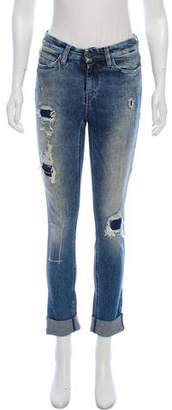 MiH Jeans Distressed High-Rise Jeans