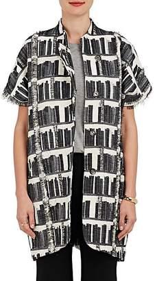 Zero Maria Cornejo Women's Edi Gilet Cotton-Blend Fil Coupé Jacket - Black