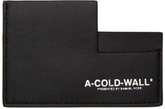 A-Cold-Wall* Black Leather Card Holder
