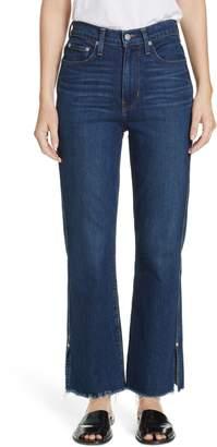 Proenza Schouler PSWL Split Hem Crop Kick Flare Jeans