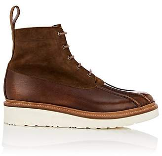 Grenson MEN'S SPIKE LEATHER & SUEDE LACE-UP BOOTS