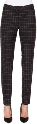 Akris Melvin Slim Marble-Tiles Flannel Wool Pants