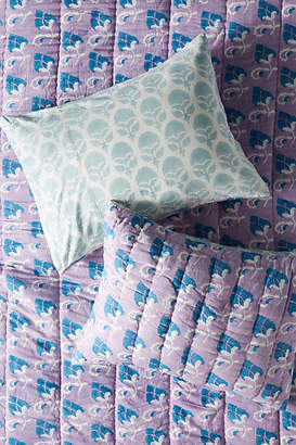 Anthropologie Artisan Quilts by Block-Printed Grecca Shams, Set of 2