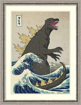 The Great Amanti Art Framed Art Print 'The Great Monster Off Kanagawa' by Michael Buxton