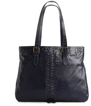 Latico Leathers Leather Woven Tote