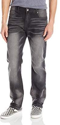 Southpole Men's Basic Flex Slim Straight Stretch Fit Washed Denim Pants Long