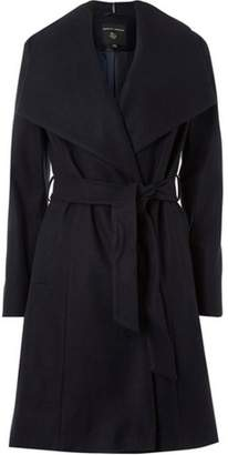 Dorothy Perkins Womens Navy Belted Wrap Coat