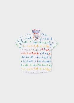 Paul Smith Baby Boys' White 'Cyclist' Print Shirt