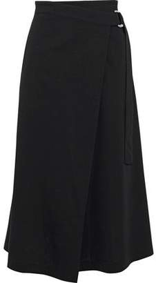 Y-3 + Adidas Cotton-Blend Wrap Skirt