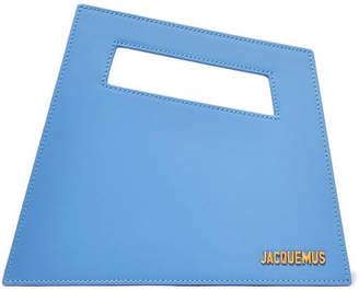Jacquemus Le Petit Patent-leather Tote - Light blue