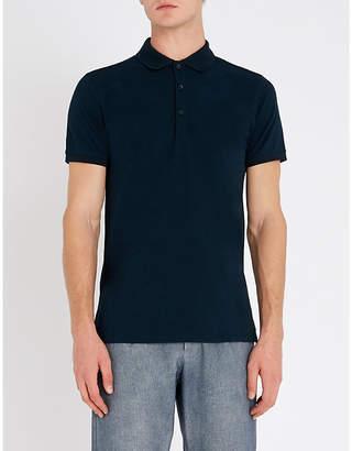HUGO Short-sleeve stretch-cotton polo shirt