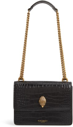 Kurt Geiger London Shoreditch Crocodile Embossed Leather Crossbody Bag