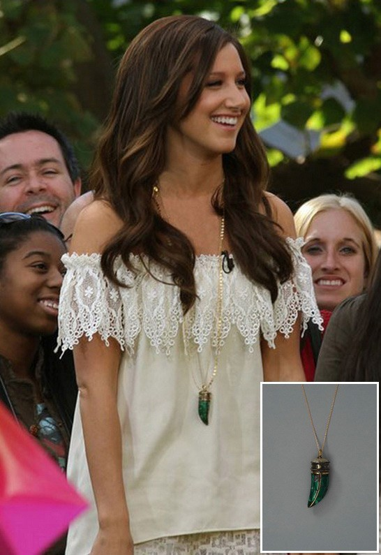 Soixante Neuf Crackle Horn Necklace - as seen on Ashley Tisdale -