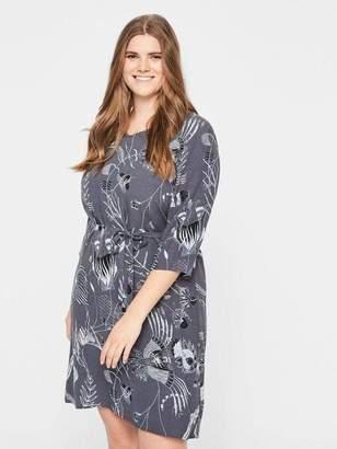 Junarose Fluid Printed Dress in Ombre Blue Size 20