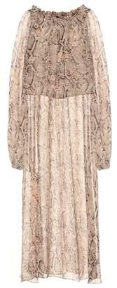 ROTATE BIRGER CHRISTENSEN Python-printed maxi dress