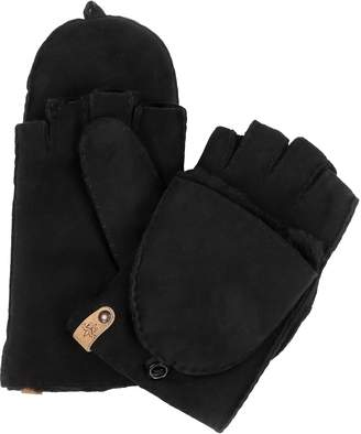 Mackage Orea Pop Top Sheepskin Leather Mittens