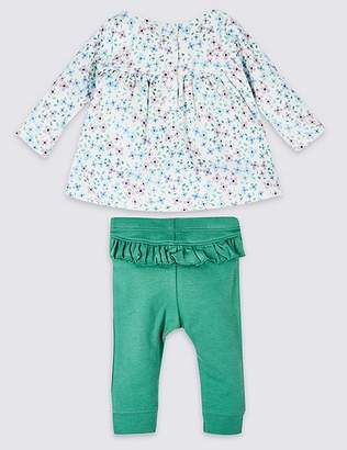 Marks and Spencer 2 Piece Frill Top & Leggings Outfit