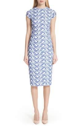Lela Rose Cap Sleeve Lace Sheath Dress