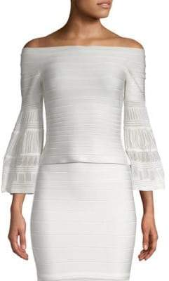 Herve Leger Off-Shoulder BandageTop