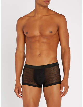 Hom Slim-fit lace trunks