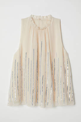 H&M Blouse with Sequins - Beige