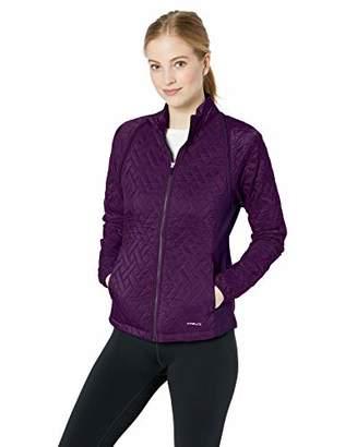 Cutter & Buck Women's Weathertec Hybrid Quilted Propel 2-in-1 Mock Jacket Vest, XX