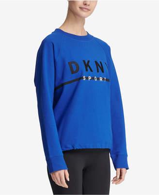 DKNY Sport Embroidered Logo Fleece Sweatshirt