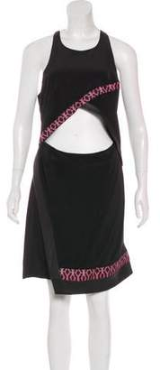 Thakoon Silk Leather-Trimmed Dress