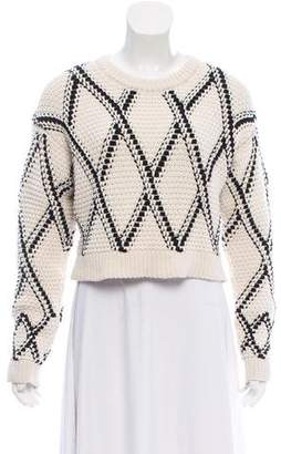 Proenza Schouler Cropped Crew Neck Sweater