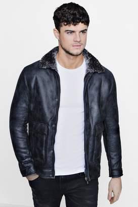 boohoo Grey Faux Suede Jacket