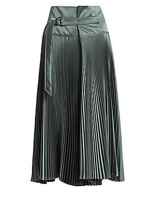 Brunello Cucinelli Women's Plisse Midi Skirt