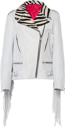 Dundas Leather Biker Jacket
