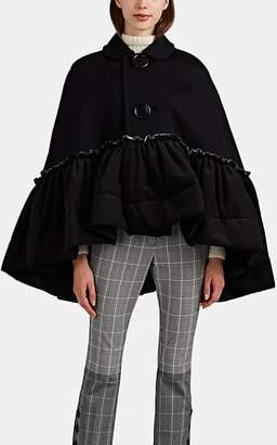 Comme des Garcons Women's Ruffle-Trimmed Jersey Cape - Black