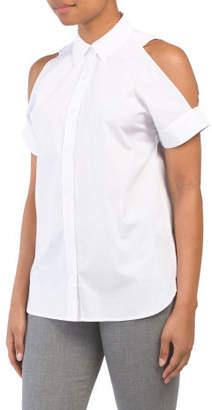 a2e04a4ec24ff8 Women s Cold Shoulder Collar Tops - ShopStyle