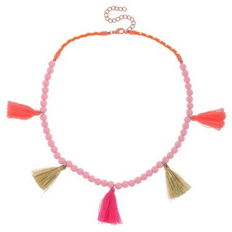 Cat & Jack Girls' Beaded Fringe Necklace Cat & Jack - Pink $5.99 thestylecure.com