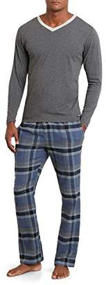 Kenneth Cole New York Men's V-Neck and Flannel Pant Set