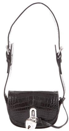 Ralph Lauren Alligator Padlock Shoulder Bag