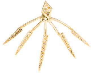 Jacquie Aiche 14K Diamond Kite Stud & Ice Pick Jacket Single Earring