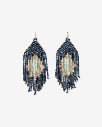 Express Bead Fringe Statement Earrings