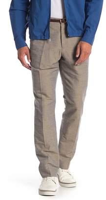 "Perry Ellis Slim Linen Blend Pants - 32\"" Inseam"