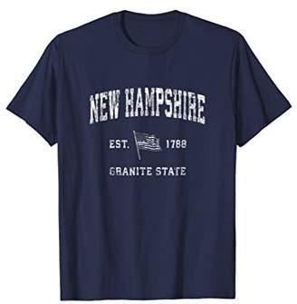 New Hampshire T-Shirt Vintage US Flag Sports Design Tee