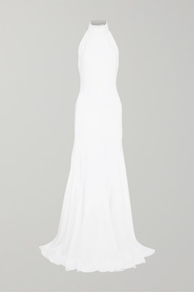 Stella McCartney Stretch-crepe Halterneck Gown - White
