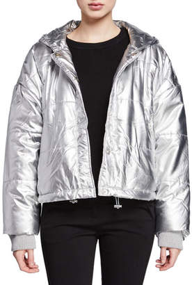 Splendid Dakota Metallic Puffer Bomber Jacket