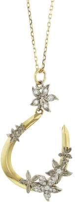 Foundrae Diamond Horseshoe Necklace