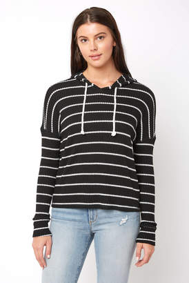 Billabong Lounge Around Striped Hooded Thermal Top