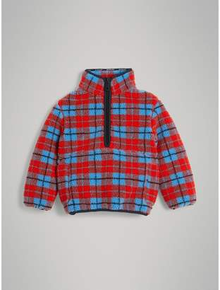 Burberry Check Fleece Half-Zip Jacket