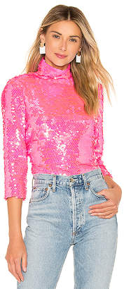 MILLY Sequin Turtleneck